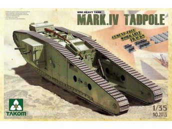 Takom 1/35 British Mk IV Male 'Tadpole' with workable tracks and wheels
