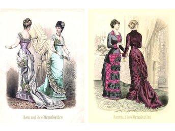 Bilder av antikt mode, 20,5 x 29 cm. Två bilder i samma stil. - Spånga - Bilder av antikt mode, 20,5 x 29 cm. Två bilder i samma stil. - Spånga