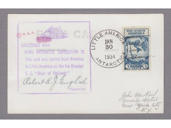 Byrd Antarctic Expedition II. Stpl 30/1 1934.