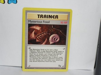 Pokemon kort pokemonkort Trainer Mysterious fossil