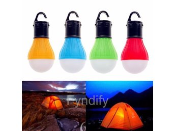 Hanging LED Camping Tent Light Bulb Blå