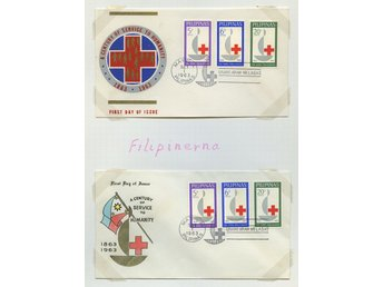LOT T3626 RED CROSS - RÖDA KORSET  / FILIPINERNA / TVÅ ILLUSTRERADE  BREV.