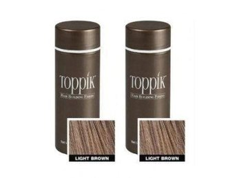 2x Toppik 25 g (Large size) - Light Brown - Ljusbrun (Helt nya)
