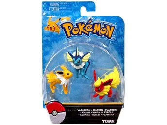 Pokemon Vaporeon, Jolteon & Flareon - 3-Pack Figurer