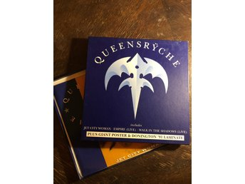QUEENSRYCHE - Jet City Woman. Rare Box W GIANT POSTER! UK Press. 1991. 12