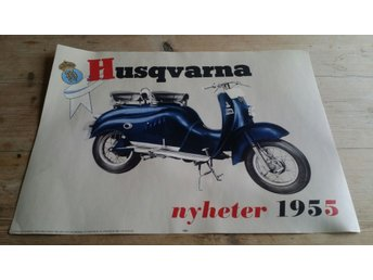 Plansch Ny, vintage 50's Moped PARILLA 40×30 cm
