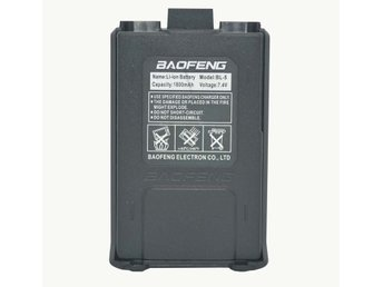Batteri  Walkie talkie Baofeng UV 5r m.fl 1800mah - Svart