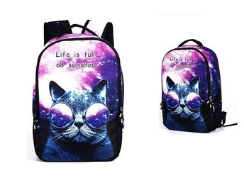 A1017 SKY CAT  kartoon ryggsäck skolväska travel bag