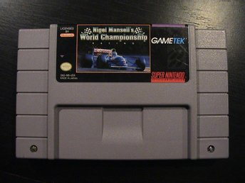 NIGEL MANSELL'S WORLD CHAMPIONSHIP RACING / SUPER NINTENDO SNES / USA IMPORT