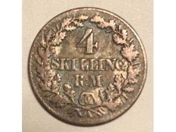 Danmark 4 sk RM 1856 god 1? - Vikingstad - Danmark 4 sk RM 1856 god 1? - Vikingstad