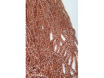 8/0 CZECH Seed Beads CRYSTAL COPPER-LINED