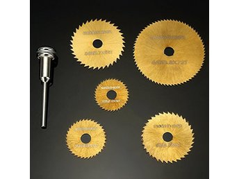 6pcs Circular Saw Blades Set Titanium Coated Saw Blades Dremel Rotary Tools NEW