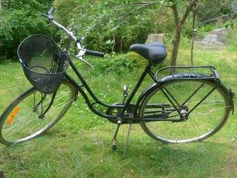 Bra CRS svart damcykel . 28 tum. Med svart cykelkor.. (358679571) ᐈ TR-11