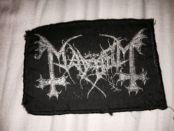MAYHEM TYGMÄRKE BLACK METAL