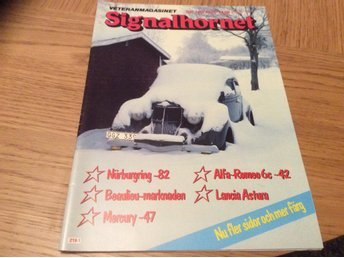 SIgnalhornet nr 1 1983  Reading Mc,BMW 328,Mercury -47,Lamcia Astura,Alfa Romeo