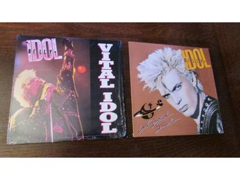 BILLY IDOL - 2 ST LP - VITAL IDOL (1987) + WHIPLASH SMILE (1986)