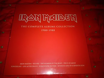 Iron Maiden - The Complete Albums Collection 1980-1988 röd box inkl 8 album