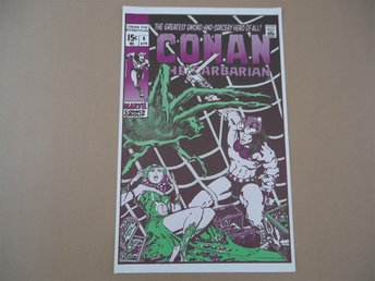 CONAN Marvel ORIGINAL POSTER ca 1970 affisch BARRY SMITH