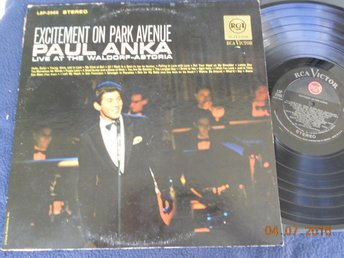 PAUL ANKA - Excitement on Park Avenue LP RCA Victor LSP-2966 Stereo USA Orig