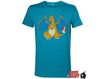 Pokemon Charizard T-Shirt Turkos (Medium)