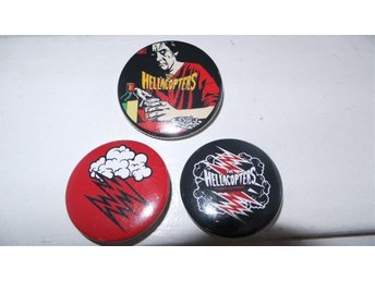 HELLACOPTERS - Set of 3-  Badges / Pins / Knappar (MC5, Backyard, Imperial,)