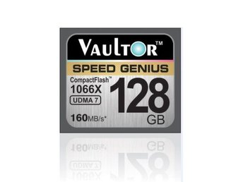 VAULTOR 128GB 1066X PROFESSIONAL EXTREME COMPACT FLASH CF MEMORY CARD - 160MB/S