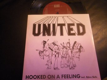 united hooked on a feeling-heart on fire singel