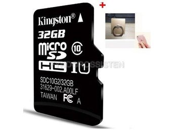 "Kingston TF Micro SD-kortminneskort ""P5TFC10 32G + Bracket"" Fri Frakt Helt Ny"