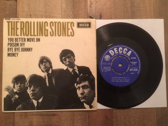 THE ROLLING STONES EP UK/NCB 4 LÅTAR : BYE,BYE JOHNNY + 3  UNBOXED DECCA MONO!!