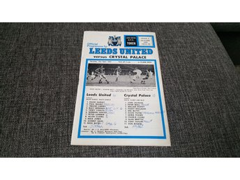 Program Leeds United v Crystal Palace 72-73