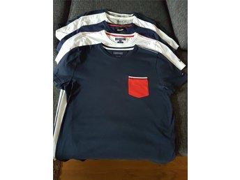 4ae5bdecdf4 5 T-shirts , storlek L . Hilfiger , Timberland , Lyle&Scott . Nyskick !