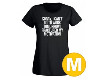 T-shirt Fractured My Motivation Svart Dam tshirt M