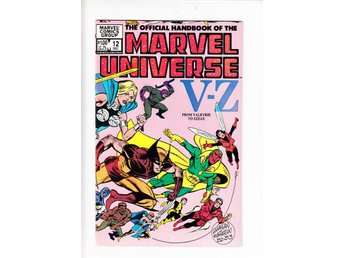 The Official Handbook of the Marvel Universe nr 12 (1983) / VF/NM / toppskick - Vallentuna - The Official Handbook of the Marvel Universe nr 12 (1983) / VF/NM / toppskick - Vallentuna