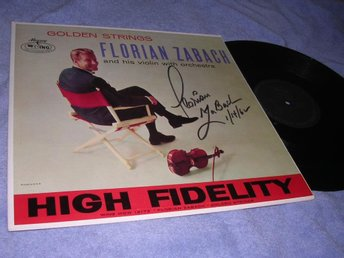 Florian Zabach - Golden Strings (LP) US 62 signed autograf