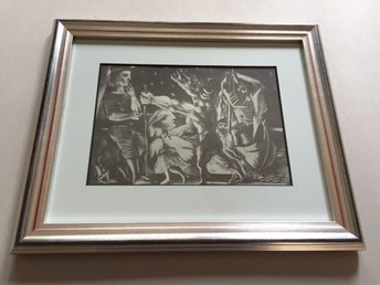 Picasso, SUITE VOLLARD 225 – Inramad, bara 540 ex - Huddinge - Konstnär: Pablo Picasso (1881-1973) Titel: SUITE VOLLARD 225 Reproduktion efter originalet. Upplaga: Begränsad, 540 ex., Editör: G. Gili, Barcelona, 1956. Bladet är monterat i en passepartout av hög kvalitet med 45 graderskärning. Rammåt - Huddinge