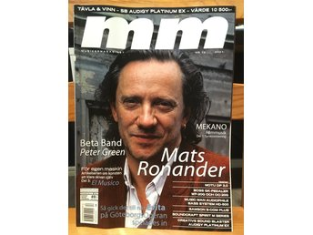 Musikermagasinet MM. Nr. 12, december 2001. Mats Ronander m.fl.