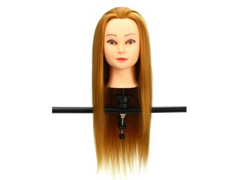 30% Golden Real Hair Hair Salon Mannequin Training Head M...