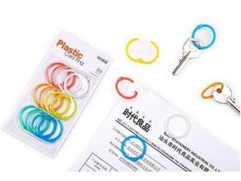 NY! 12Pcs Colorful Plastic key locker Ring