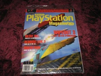 PLAYSTATION 20 NY CD 8/1999 I ORGINALPLAST WIPEOUT 3