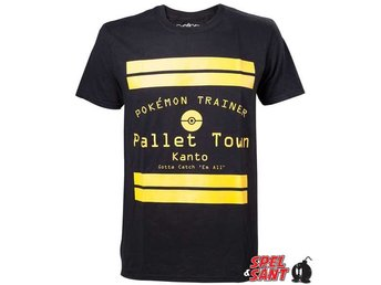 Pokemon Trainer Pallet Town T-Shirt Svart (Small)