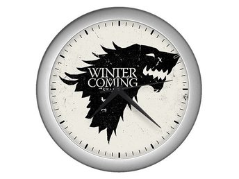 Winter Is Coming Direwolf House Stark Wolves Väggklocka Silver