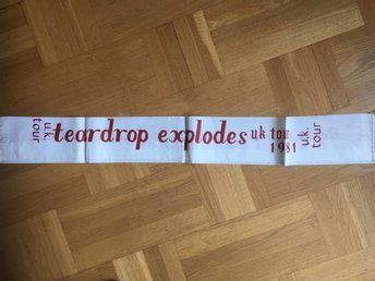 the teardrop explodes 1981 punk Konserthalsduk turnéscarf