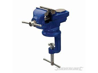 50mm TableTop Vice with Swivel Base – Bench Workshop Holding