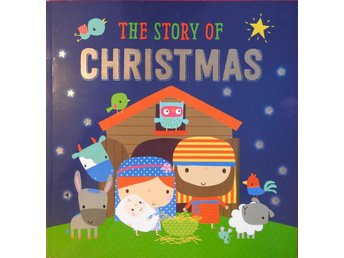 The Story of Christmas - Large format English Childrens' Book JULBOK Barnbok