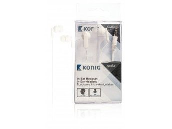 König In-ear headset vitt