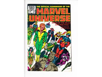 The Official Handbook of the Marvel Universe nr 13 (1984) / VF/NM / toppskick - Vallentuna - The Official Handbook of the Marvel Universe nr 13 (1984) / VF/NM / toppskick - Vallentuna