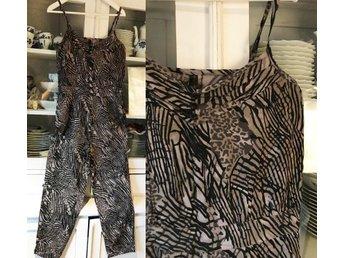 Byxdress svart brun beige jumpsuit catsuit mönstrad leopard Authentic Style 42 - Kullavik - Byxdress svart brun beige jumpsuit catsuit mönstrad leopard Authentic Style 42 - Kullavik