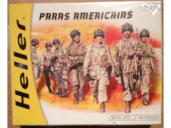 WWII AMERICAN PARATROOPERS    Heller 1/72 Byggsats