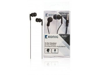 König In-ear headset svart