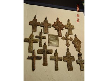 CROSS RUSSIA XVII-XVIII CENTURY. 14 PIECES